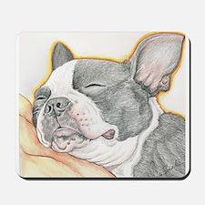 Sleepy Boston Terrier Mousepad