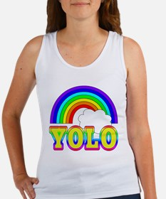 YOLO with Rainbow and Cloud Women's Tank Top