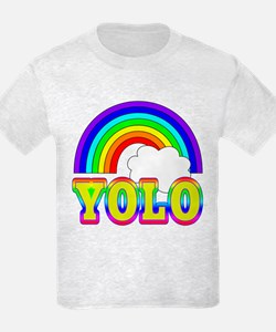 YOLO with Rainbow and Cloud T-Shirt