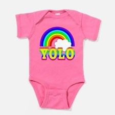 YOLO with Rainbow and Cloud Baby Bodysuit
