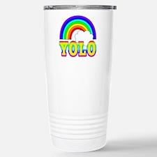 YOLO with Rainbow and C Travel Mug