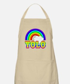 YOLO with Rainbow and Cloud Apron