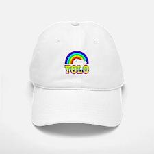 YOLO with Rainbow and Cloud Baseball Baseball Cap