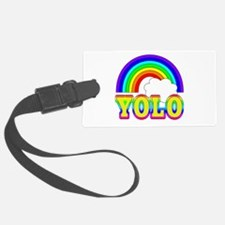 YOLO with Rainbow and Cloud Luggage Tag