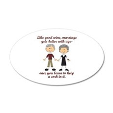WINE AND MARRIAGE Wall Decal