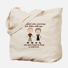 WINE AND MARRIAGE Tote Bag