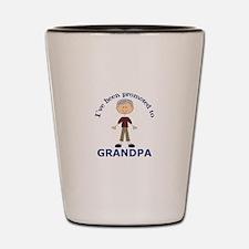 PROMOTED TO GRANDPA Shot Glass