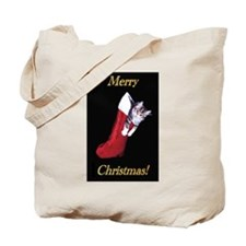 Stocking Kitty Tote Bag