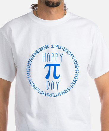 Happy Pi Day in Blue Shirt