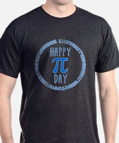 Happy Pi Day in Blue T-Shirt