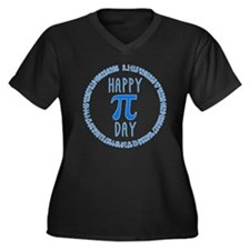 Happy Pi Day Women's Plus Size V-Neck Dark T-Shirt