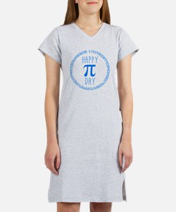 Happy Pi Day in Blue Women's Nightshirt