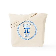 Happy Pi Day in Blue Tote Bag