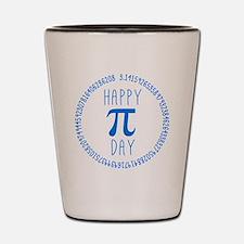 Happy Pi Day in Blue Shot Glass