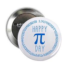 "Happy Pi Day in Blue 2.25"" Button"