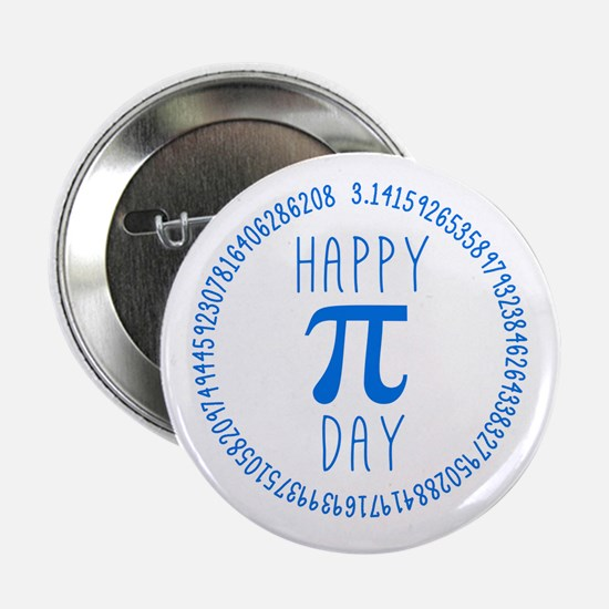 """Happy Pi Day in Blue 2.25"""" Button (10 pack)"""