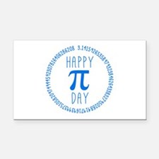 Happy Pi Day in Blue Rectangle Car Magnet