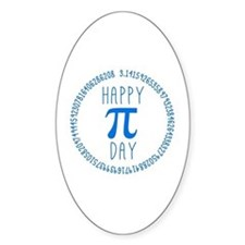 Happy Pi Day in Blue Decal