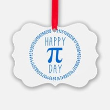 Happy Pi Day in Blue Ornament