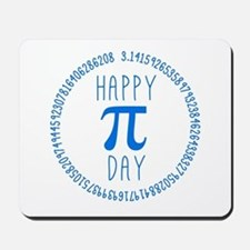 Happy Pi Day in Blue Mousepad