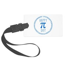 Happy Pi Day in Blue Luggage Tag