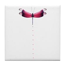 Pink dragonfly Tile Coaster