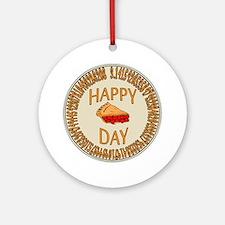 Happy PI Day Cherry Pie Ornament (Round)