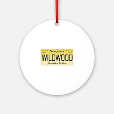 Wildwood NJ License Tagwear Ornament (Round)