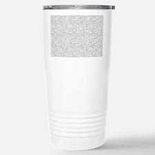 Silver Gray Glitter Sp Stainless Steel Travel Mug