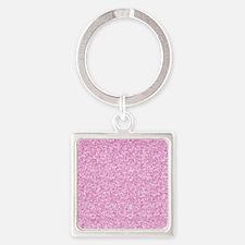 Funny Glitter Square Keychain