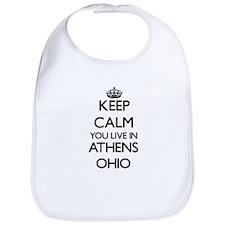 Keep calm you live in Athens Ohio Bib