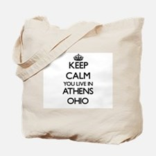 Keep calm you live in Athens Ohio Tote Bag