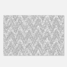 Silver Glitter & Sparkles Postcards (Package of 8)