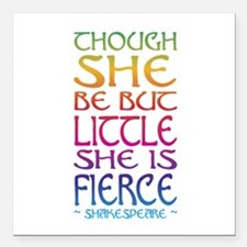"Thought She Be But Littl Square Car Magnet 3"" x 3"""