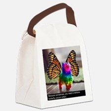 Rainbow butterfly kitten Canvas Lunch Bag