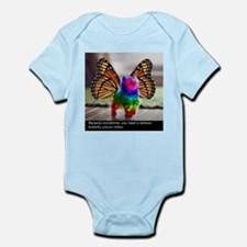 Rainbow butterfly kitten Body Suit