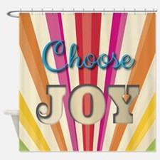 Choose Joy Shower Curtain