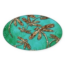 Dragonfly Turquoise Swirl Decal