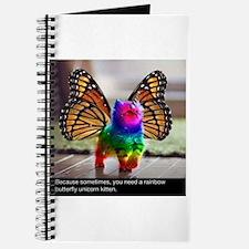 Rainbow butterfly kitten Journal