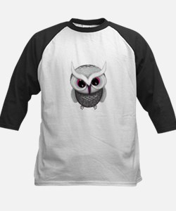 Cute Little Grey Spotted Owl Illus Baseball Jersey