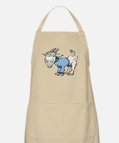 Silly Cartoon Goat in Blue Sweater Apron