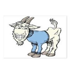Silly Cartoon Goat in Blu Postcards (Package of 8)