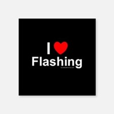 "Flashing Square Sticker 3"" x 3"""