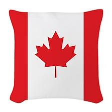 Canada Flag Woven Throw Pillow