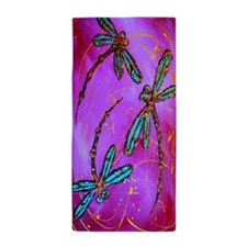 Dragonfly Electric Pink Beach Towel