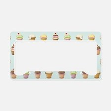 Cupcake Factory License Plate Holder