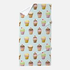 Cupcake Factory Beach Towel