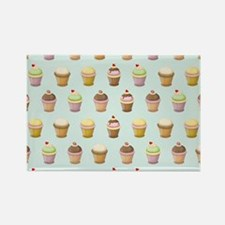 Cupcake Factory Rectangle Magnet (10 pack)