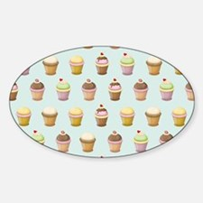 Cupcake Factory Sticker (Oval)