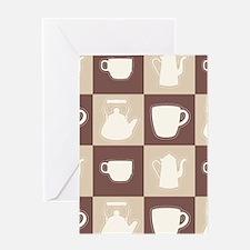 Tea Tiles Greeting Card